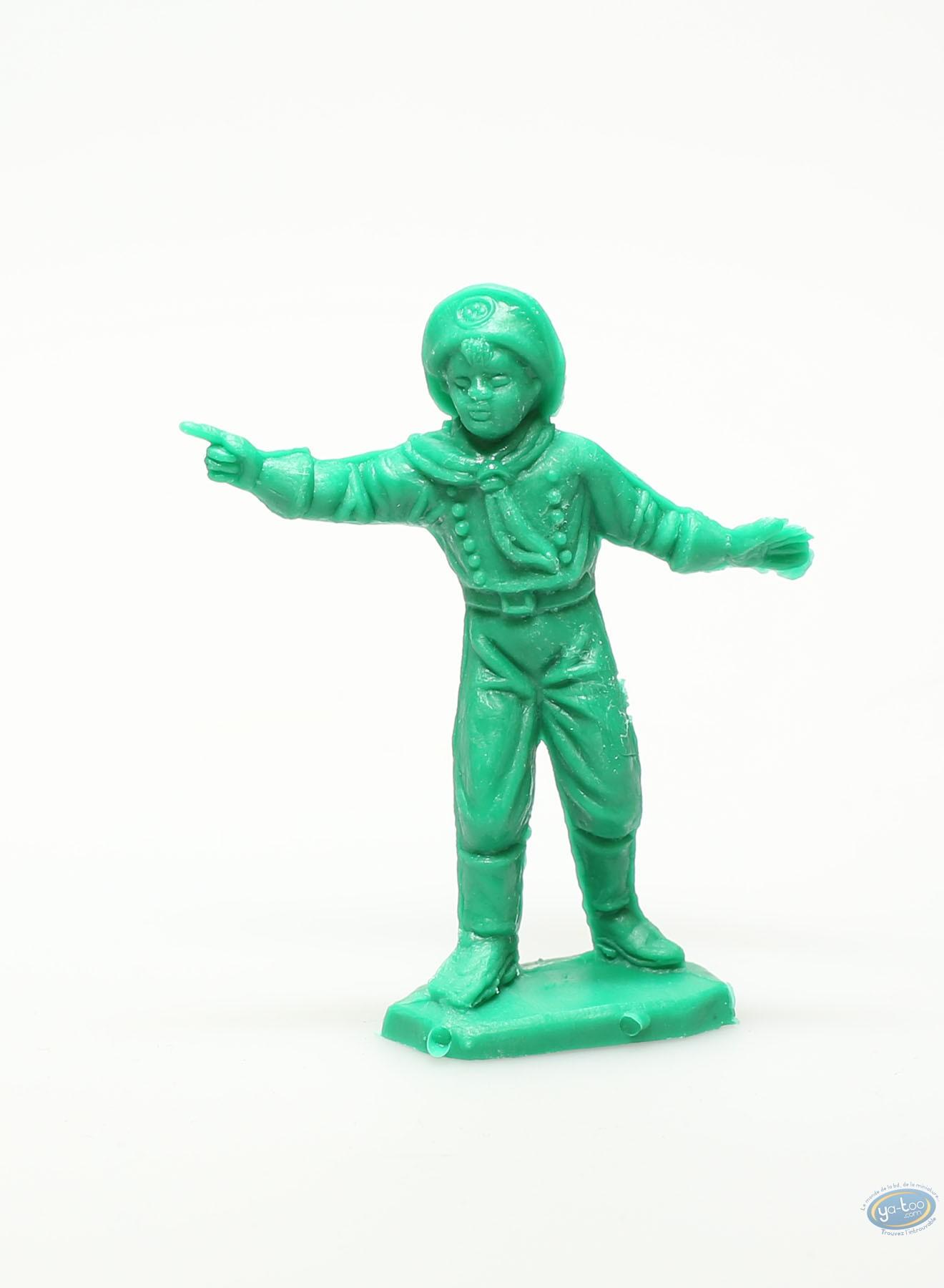 Plastic Figurine, Rintintin : Plastic figure : Young boy pointing green
