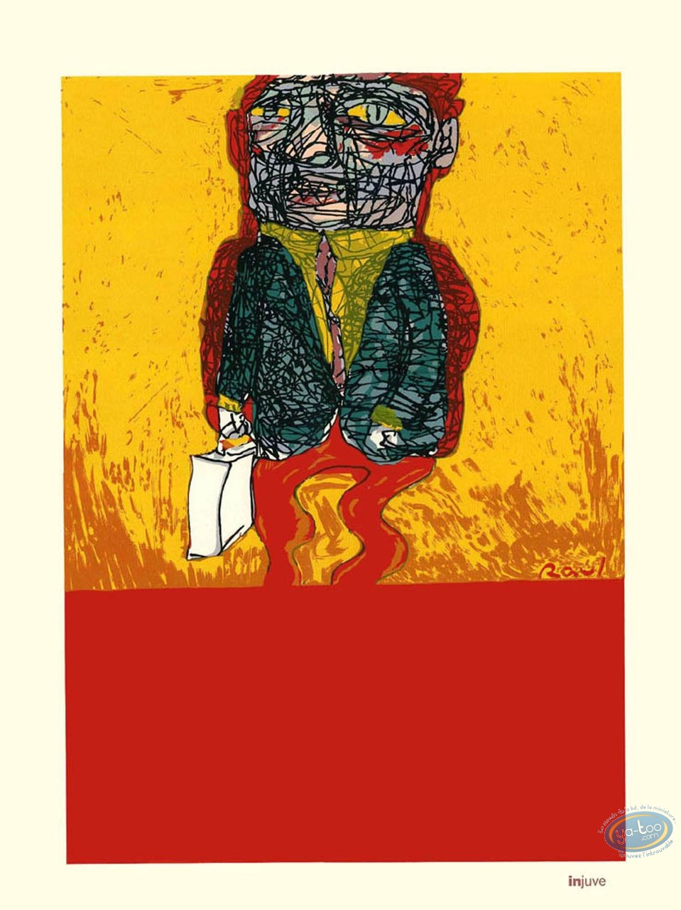 Serigraph Print, Man with a Case