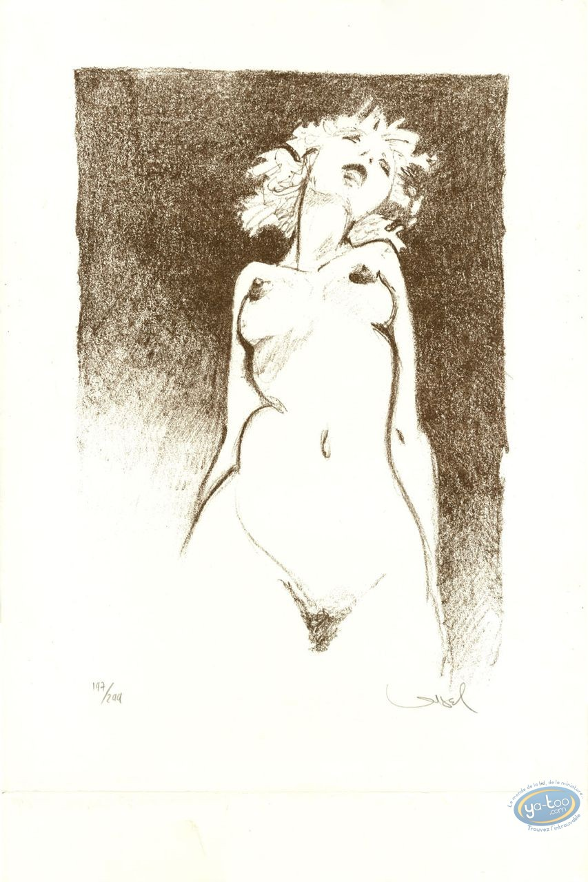 Offset Print, Naked Woman