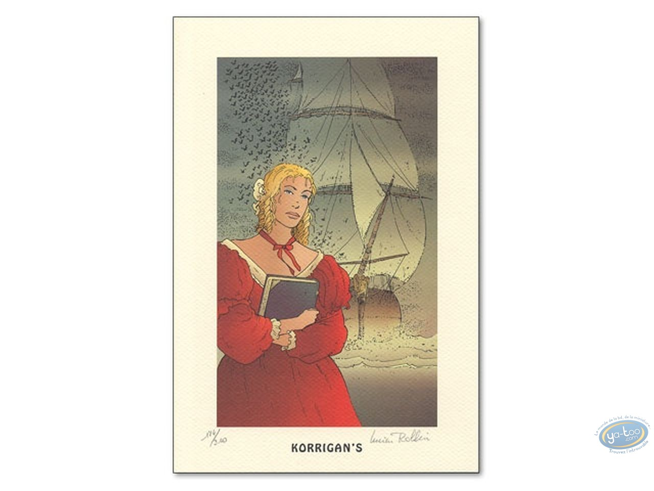 Bookplate Offset, Ombres : Woman & Boat