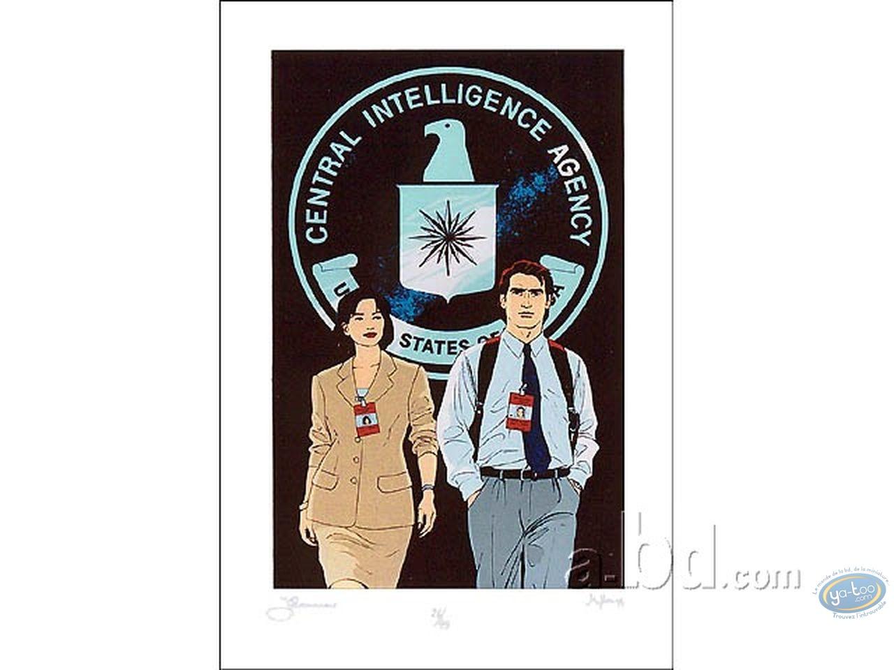 Serigraph Print, Alpha : CIA