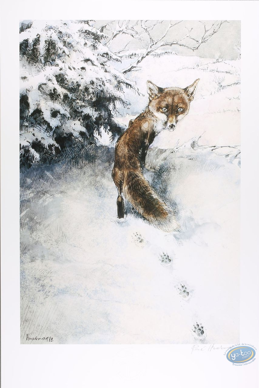 Offset Print, The fox (signed)