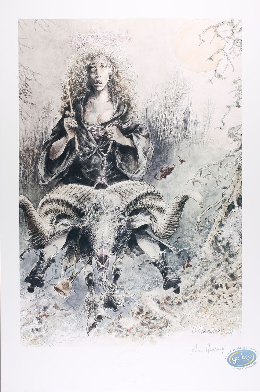 Offset Print, Witch Goat (signed)