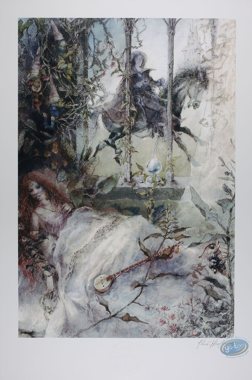 Offset Print, The sleeping beauty (signed)