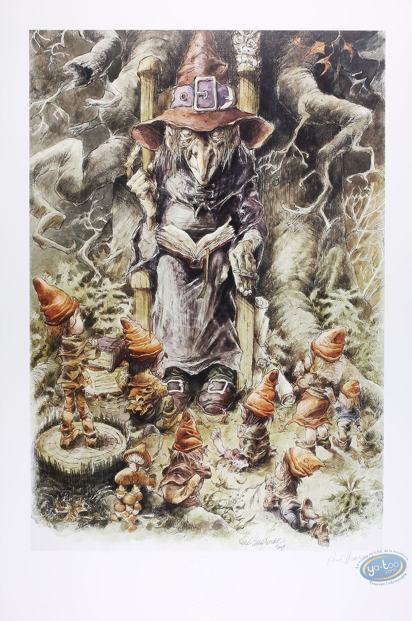 Offset Print, The witch to the elves (signed)