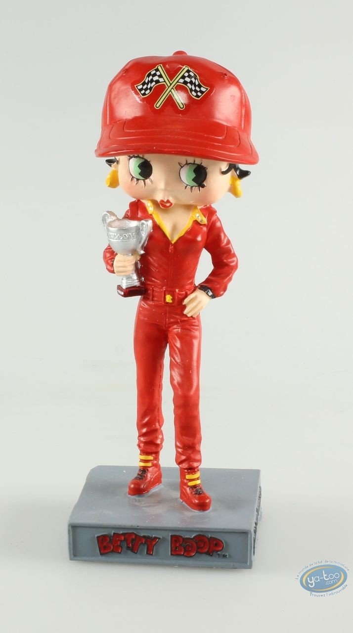 Resin Statuette, Betty Boop : Betty Boop Racing driver