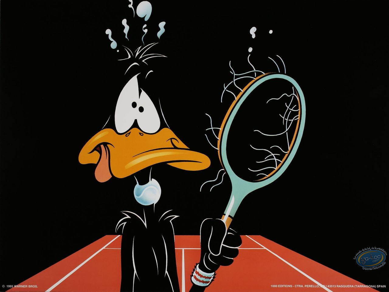 Offset Print, Daffy Duck : Anyone for Tennis 30X40 cm