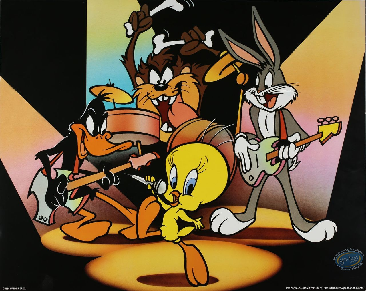 Offset Print, Looney Tunes (Les) : Roll over Beethoven 40X50 cm