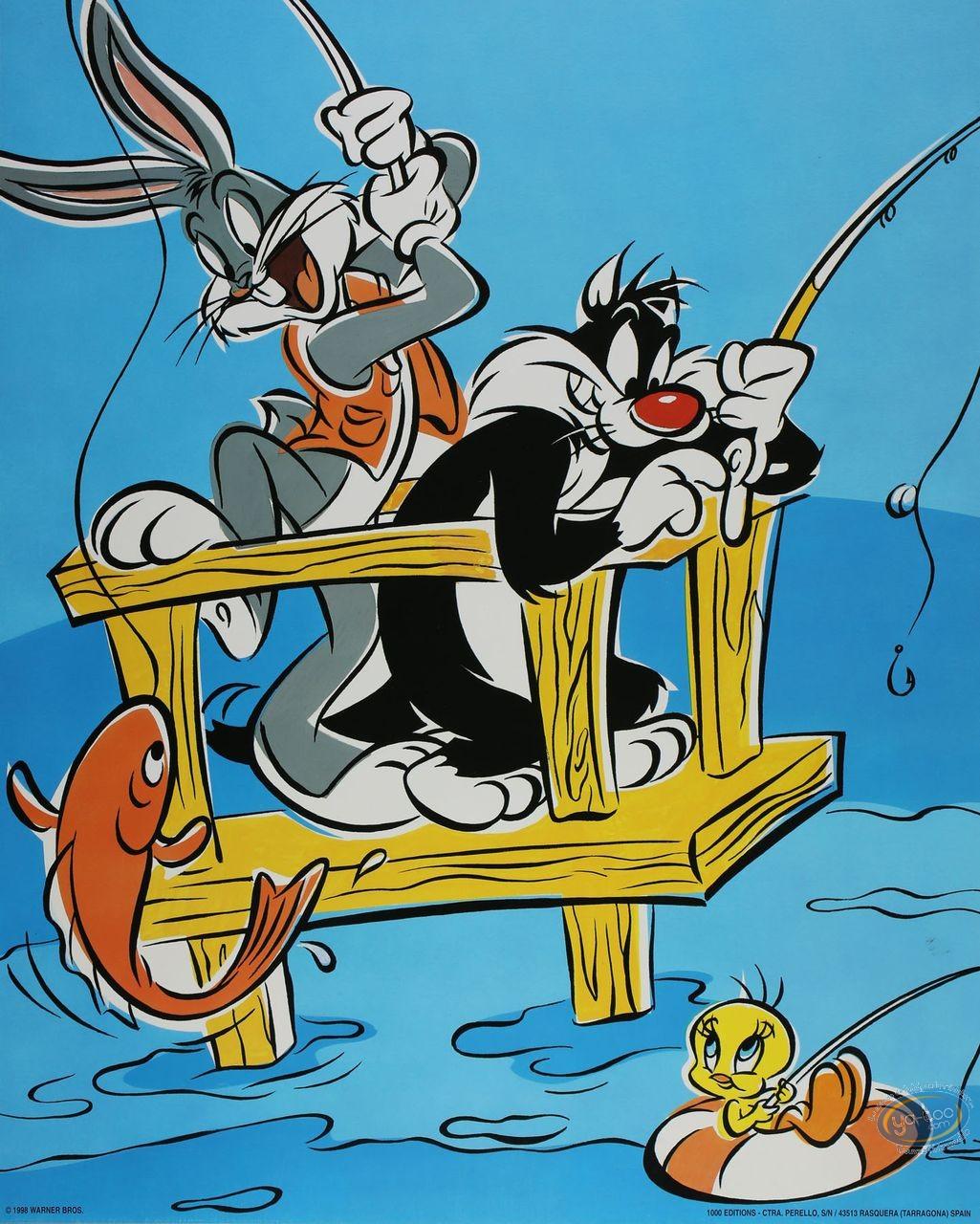 Offset Print, Looney Tunes (Les) : Gone Fishing 50X40 cm