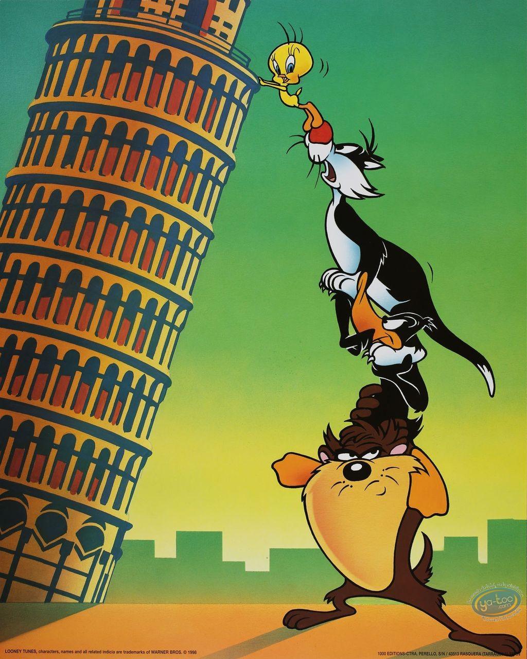 Offset Print, Looney Tunes (Les) : Italian Hollyday 50X40 cm