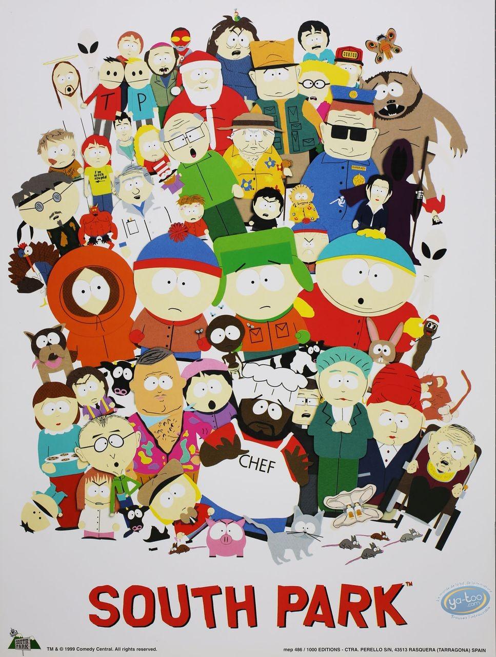 Offset Print, South Park : Group Shot 40X30 cm