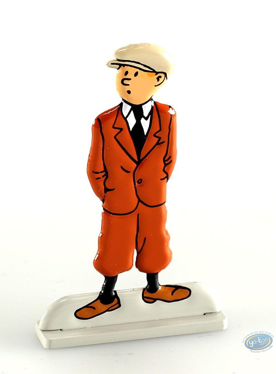 Metal Figurine, Tintin : L'oreille cassée (bas relief)