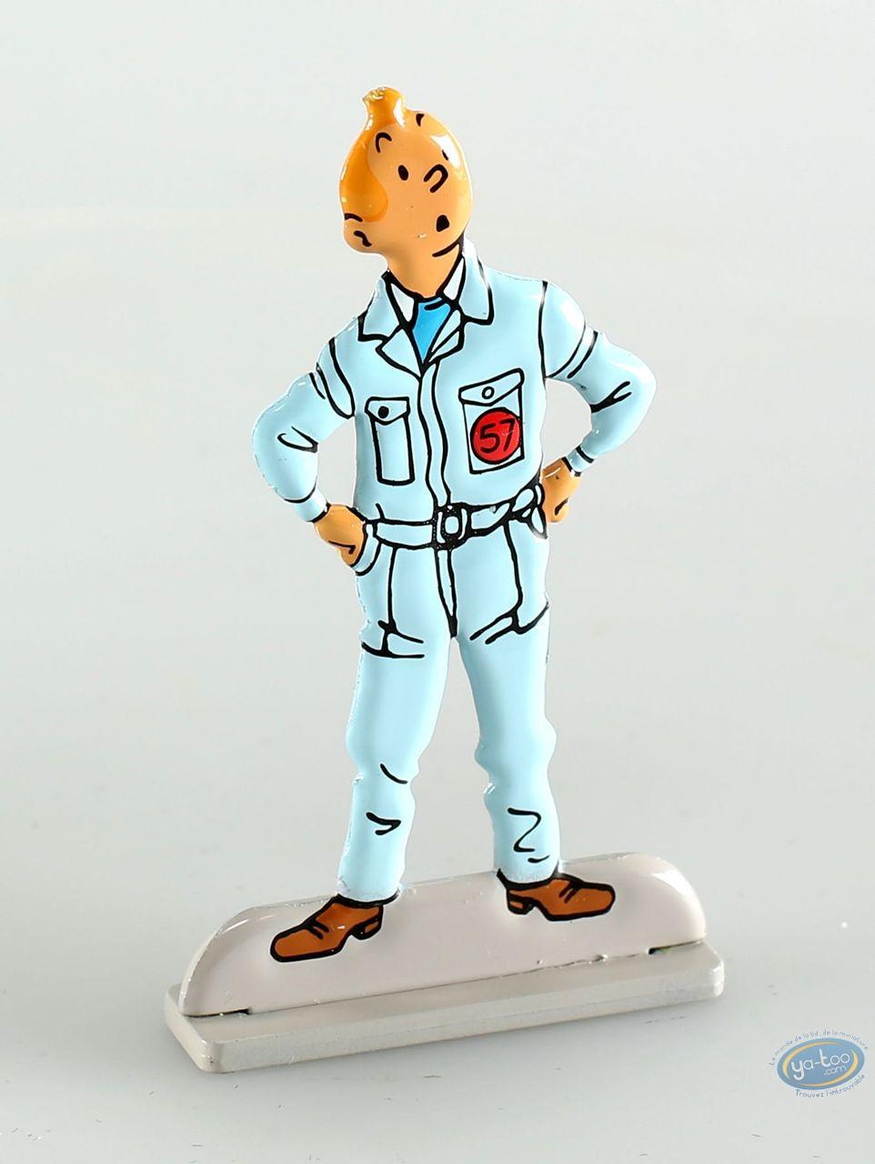 Metal Figurine, Tintin : Objectif lune (bas relief)