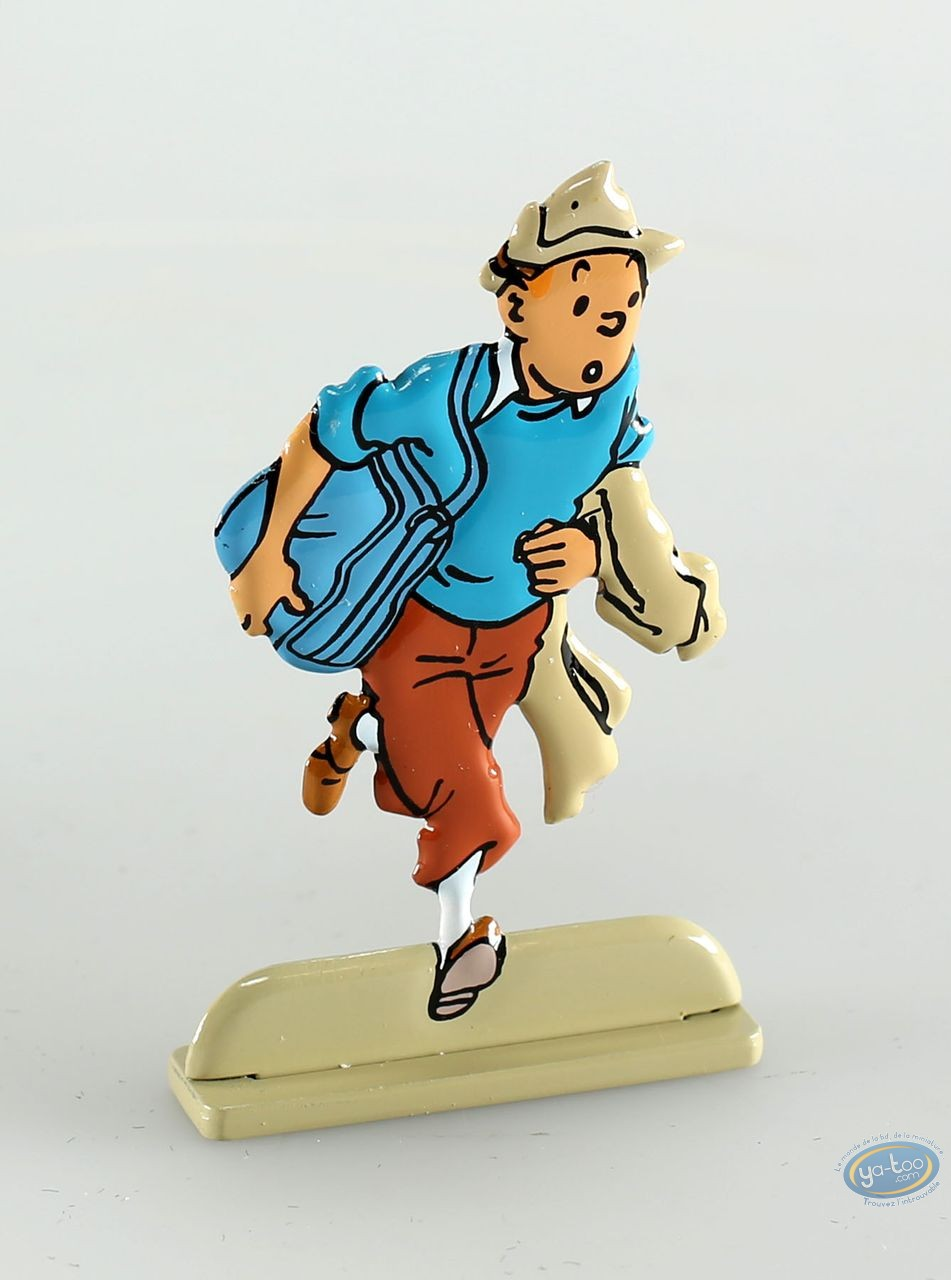 Metal Figurine, Tintin : Coke en stock (bas relief)