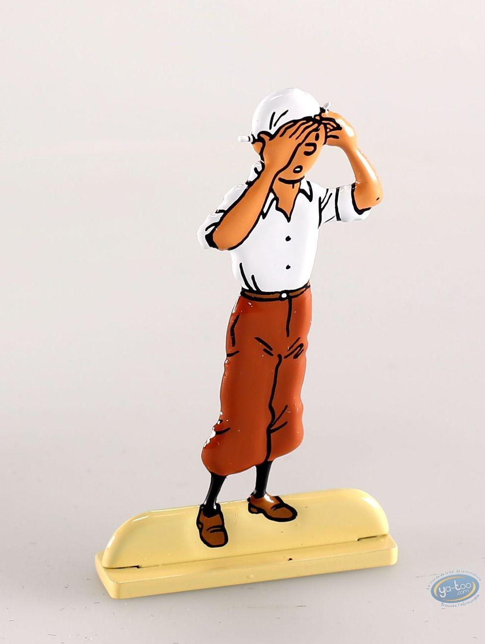 Metal Figurine, Tintin : Le crabe aux pinces d'or (bas relief)