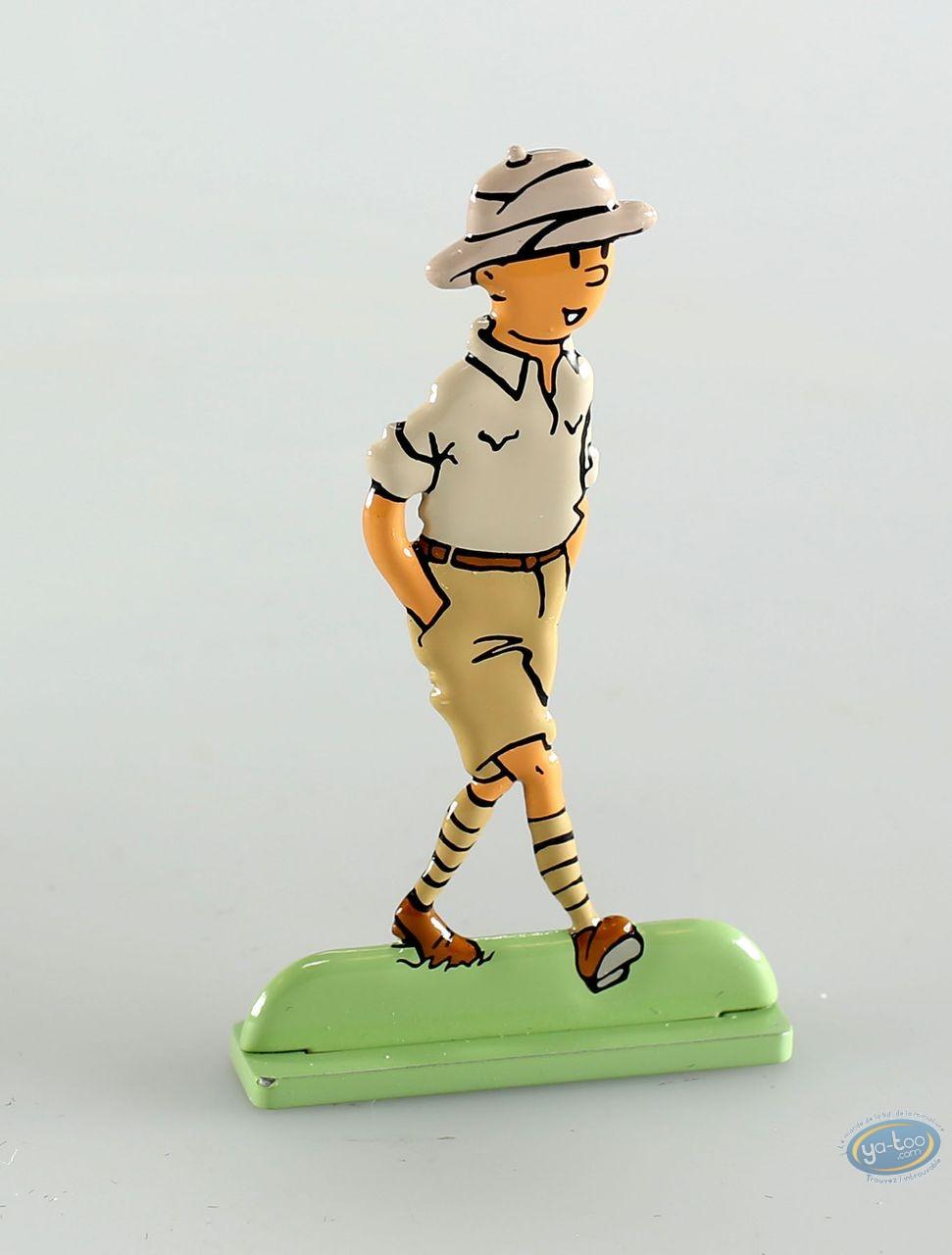 Metal Figurine, Tintin : Tintin in the Congo (bas-relief)