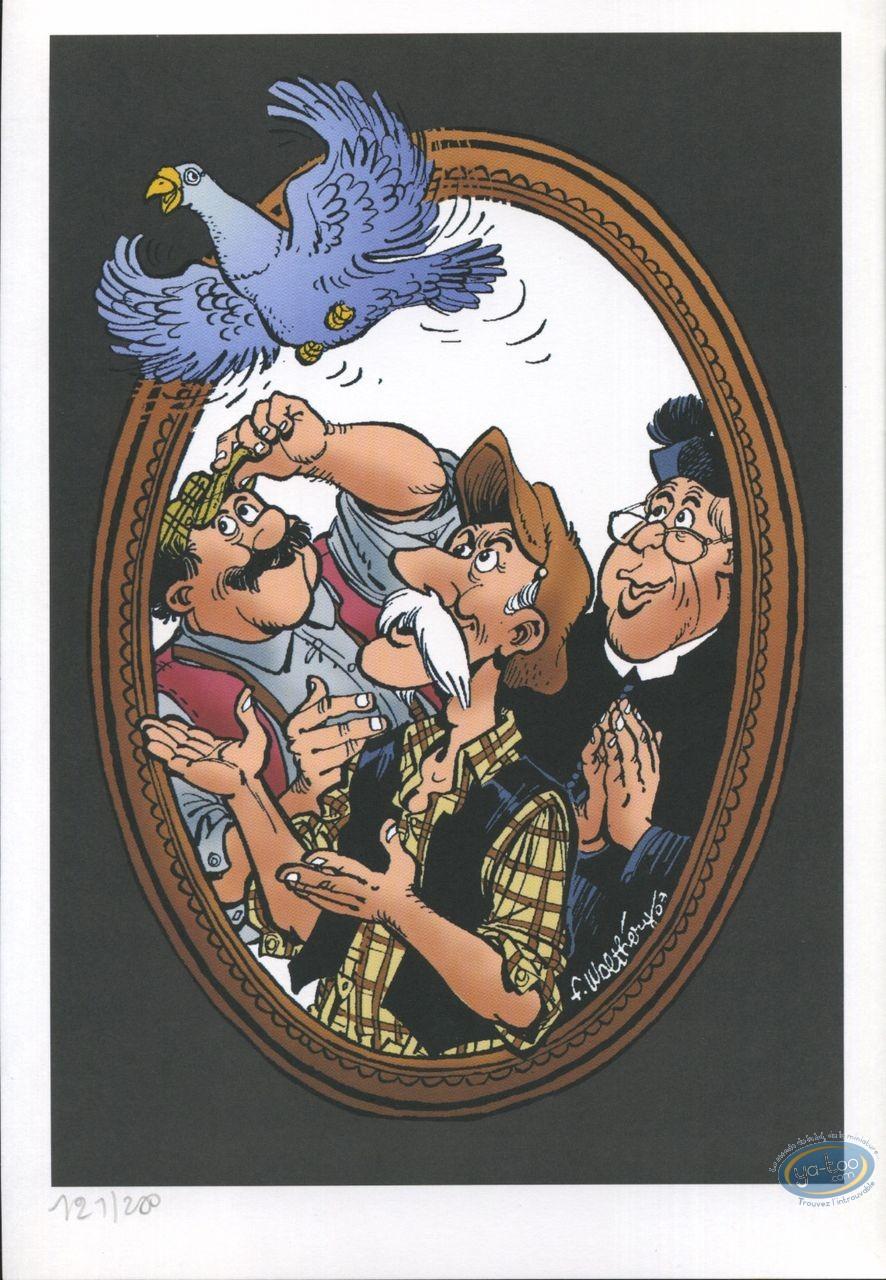 Bookplate Offset, Vieux Bleu (Le) : Le Vieux bleu ; pigeon