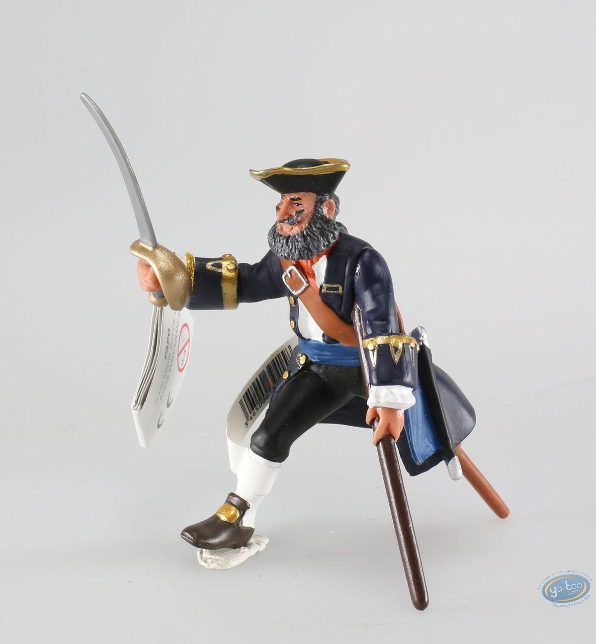 Plastic Figurine, Pirates : Captain with wood leg