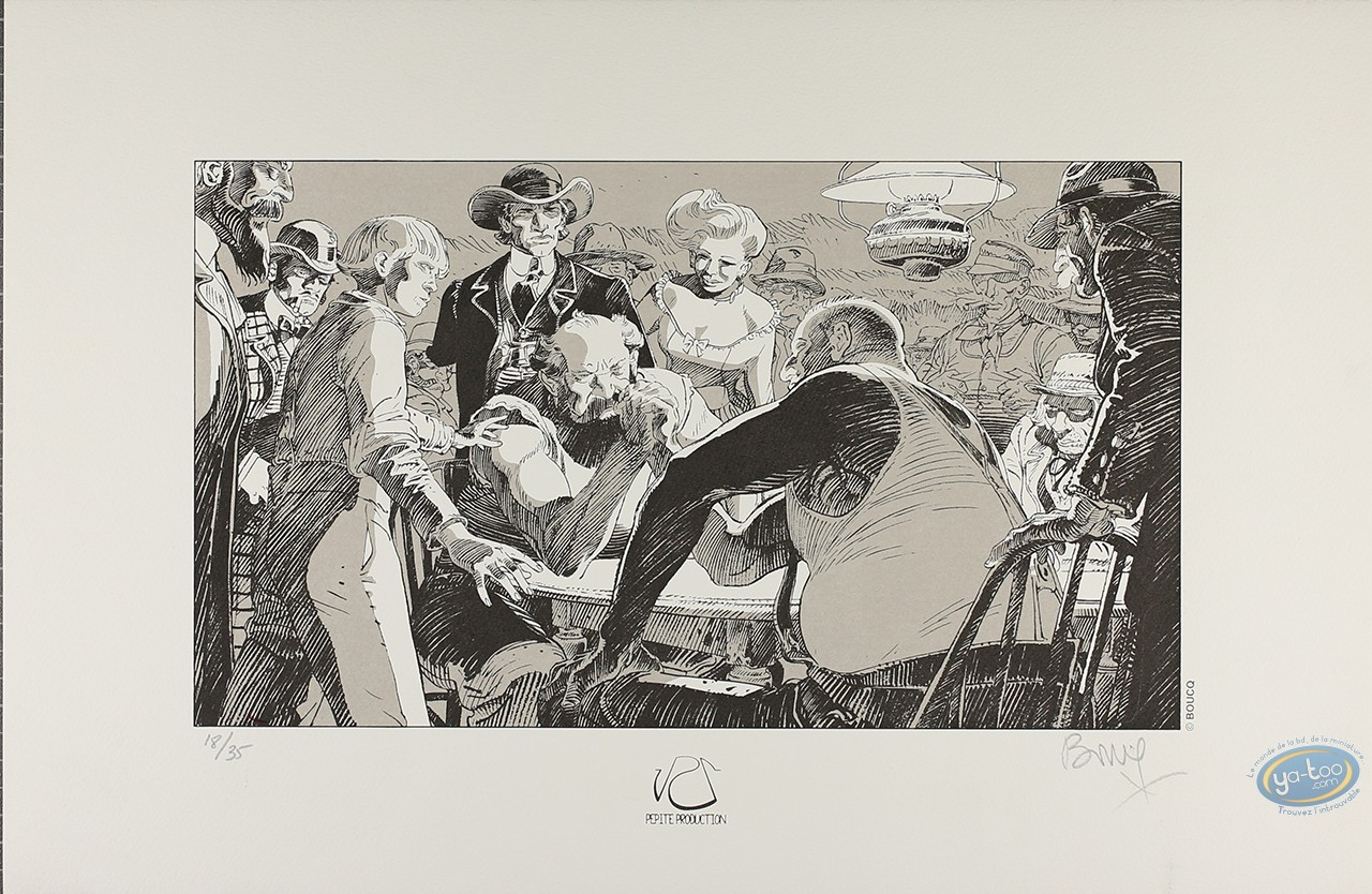 Serigraph Print, Bouncer : The arm battle (b&w version)