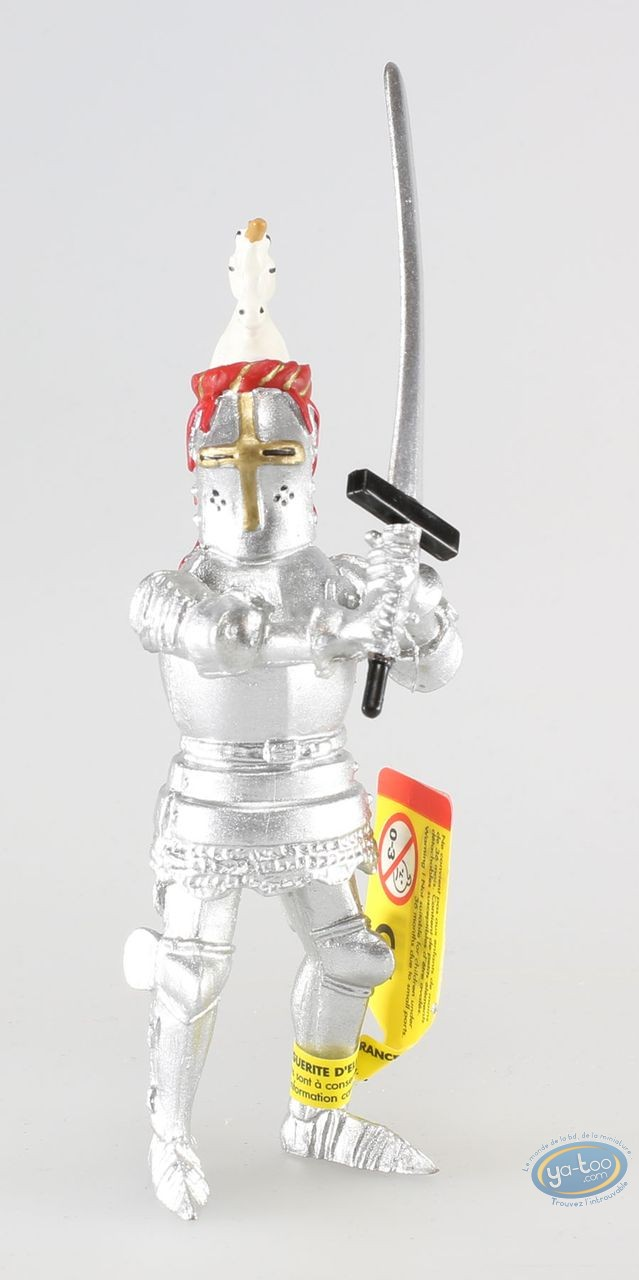 Plastic Figurine, Knight with sword, red and gold crest