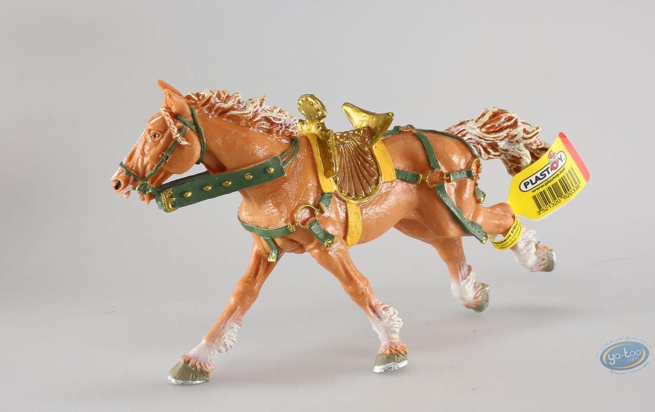 Plastic Figurine,  : Galloping Beige Horse