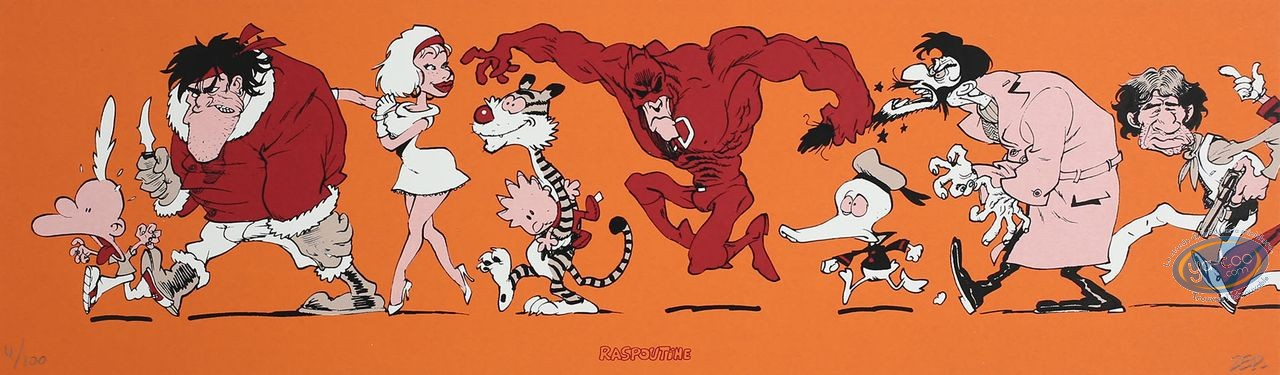 Bookplate Serigraph, Titeuf : Super Heroes (orange)