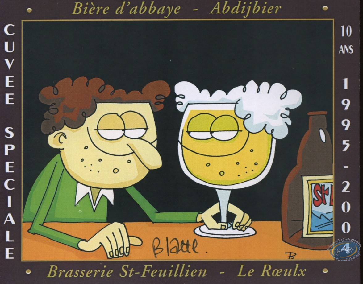 Wine Label, Man & beer