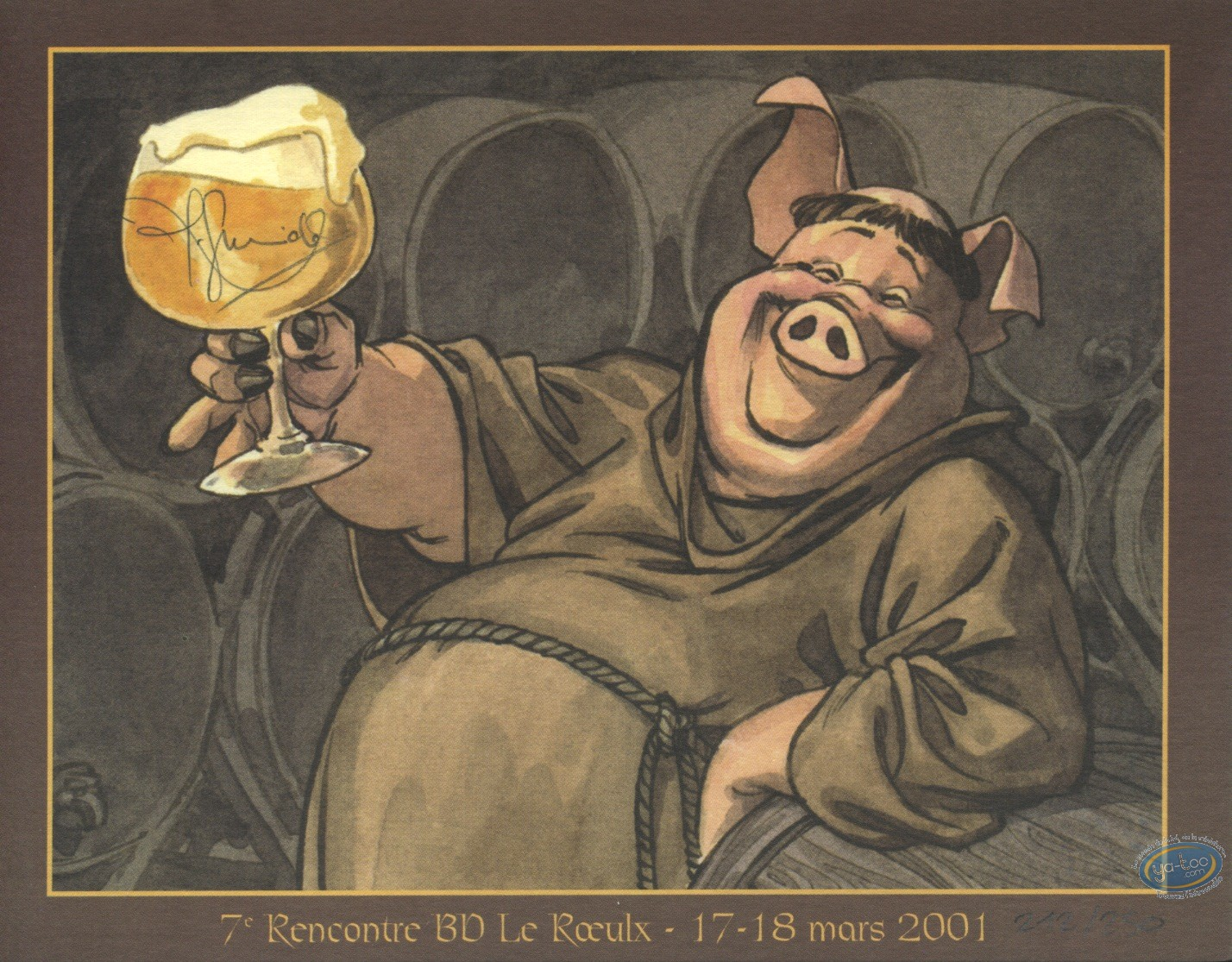 Bookplate Offset, Monks & beer