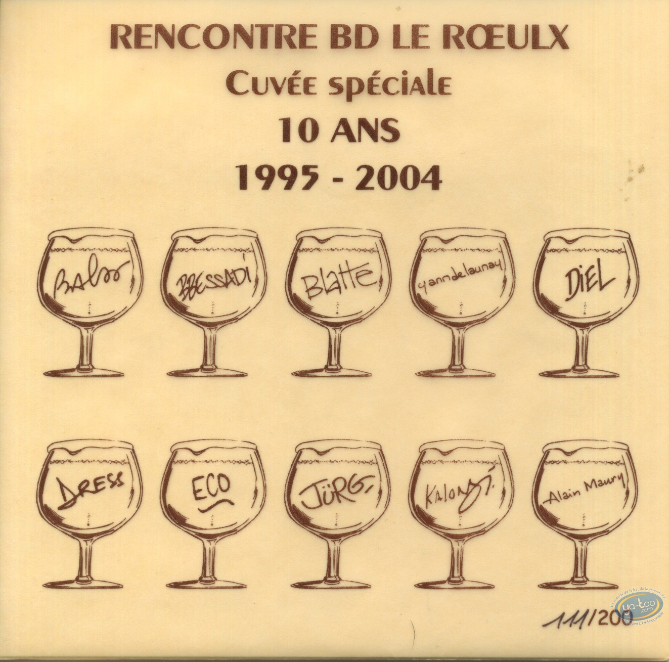 Wine Label, Cuvee speciale 10 years 1995-2004