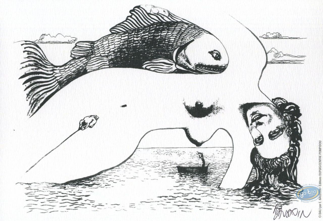 Bookplate Offset, Dali : Woman & fish