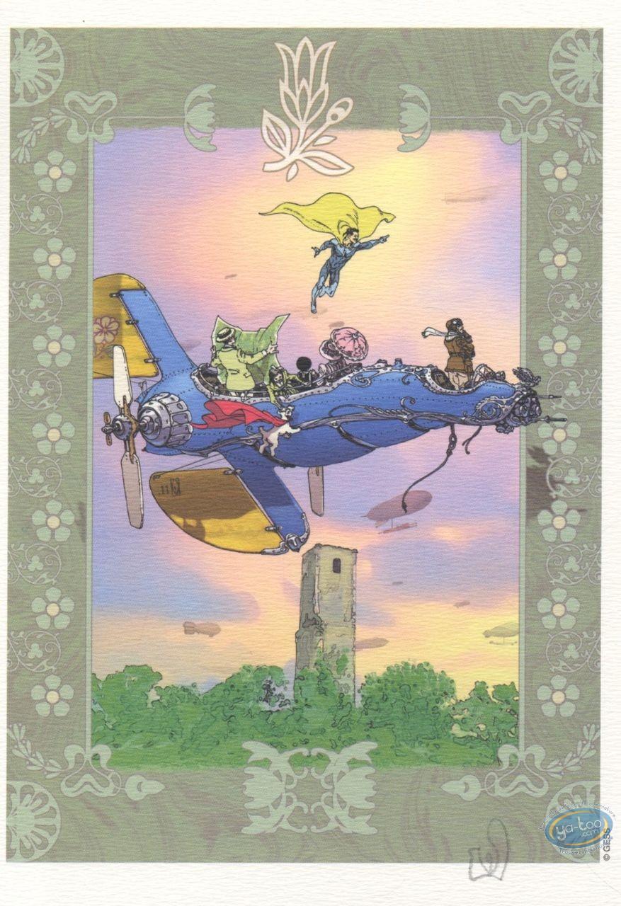 Bookplate Offset, Gess, Machine volante