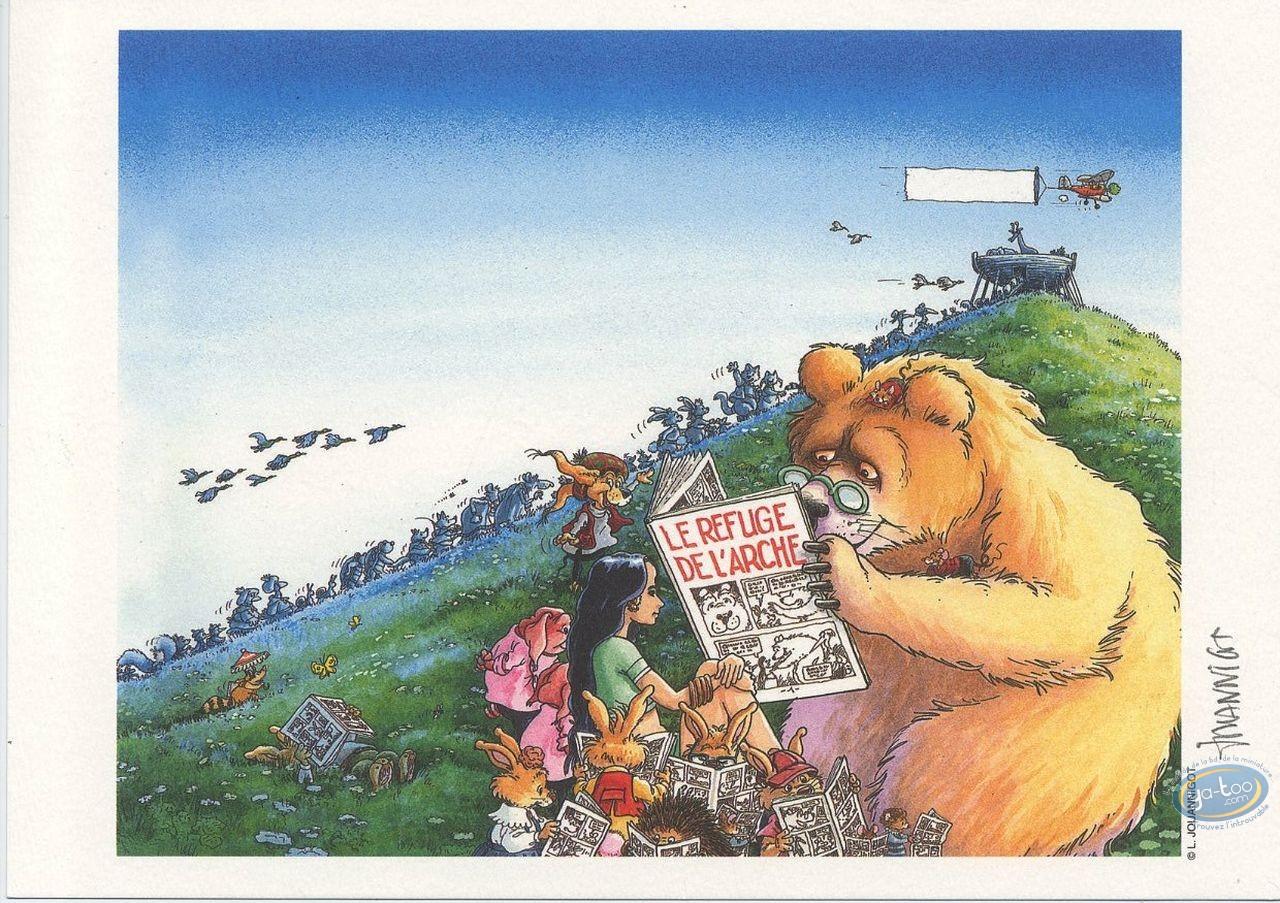 Bookplate Offset, Bear reading