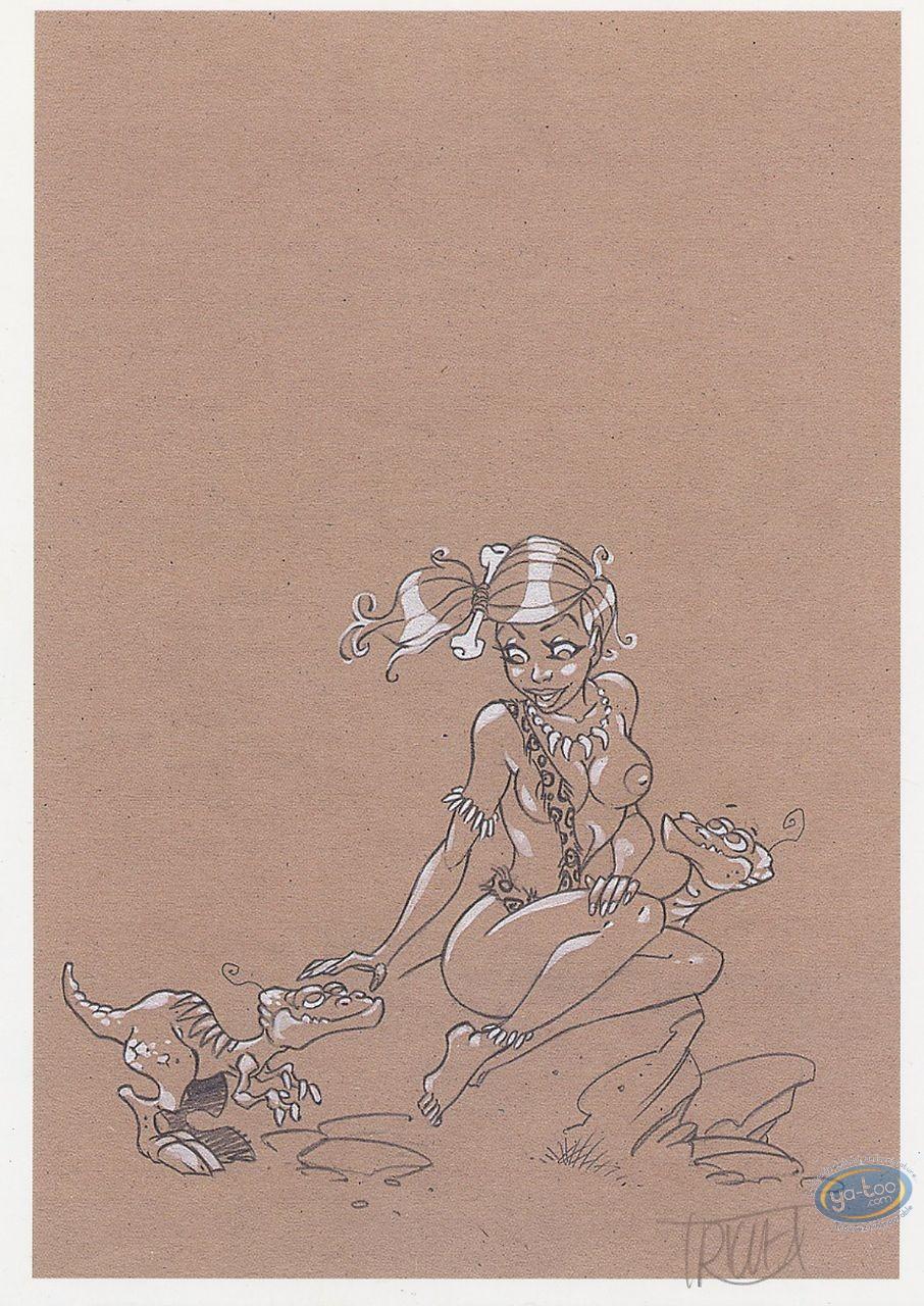 Bookplate Offset, Arcanes du Midi-Minuit (Les) : Girl & dinosaurus