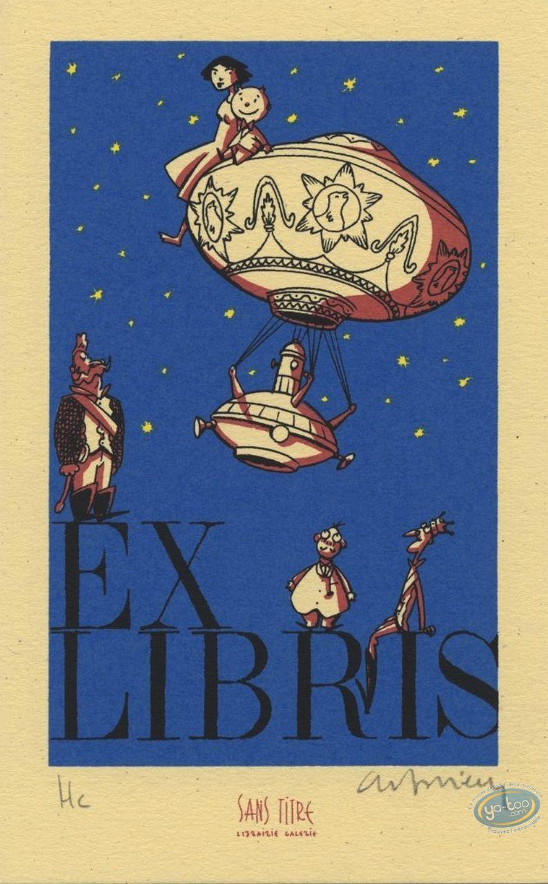 Bookplate Serigraph, Benito Mambo : Bookplate