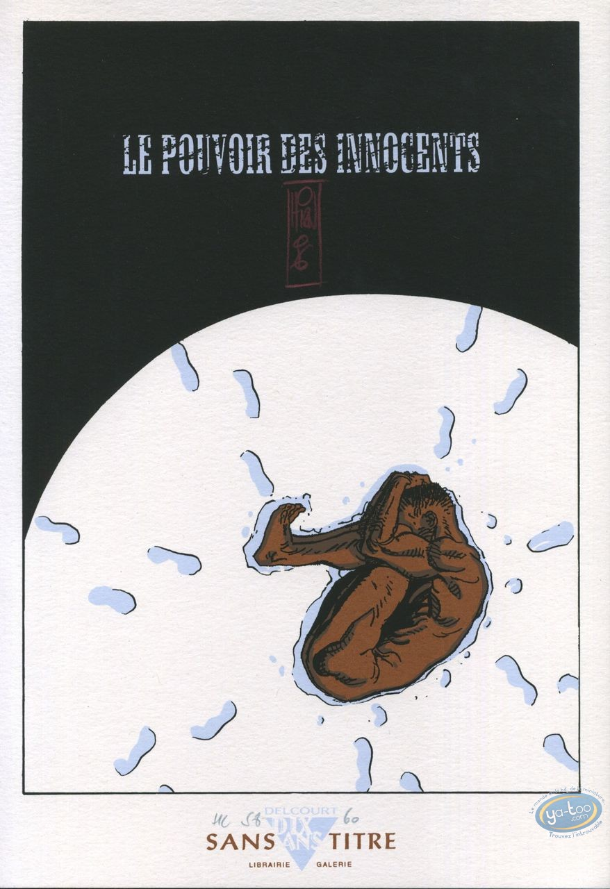 Bookplate Serigraph, Pouvoir des Innocents (Le) : Naked in the Snow