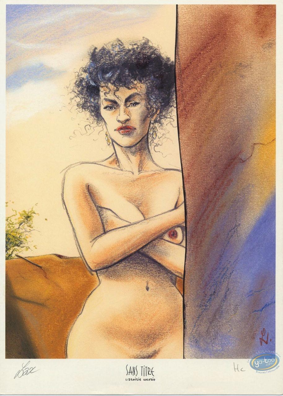 Bookplate Offset, Azrayen : Naked Woman
