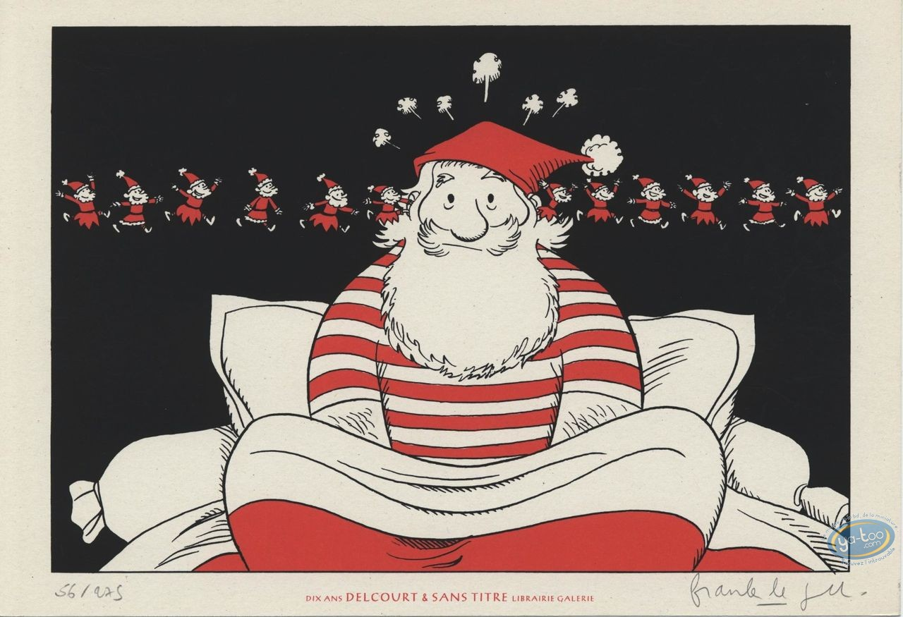 Bookplate Serigraph, Catastrophes au Pays du Père Noël : Insomnia