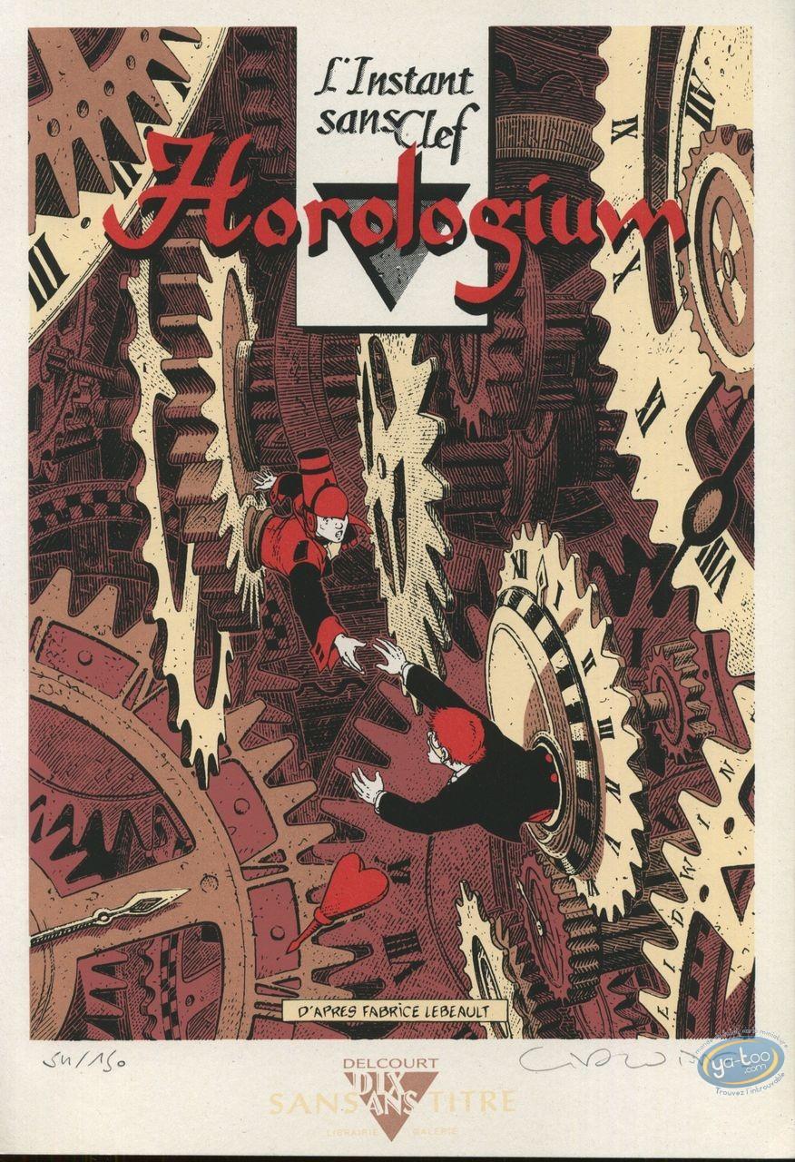 Bookplate Serigraph, Horologiom : L'Instant sans Clef