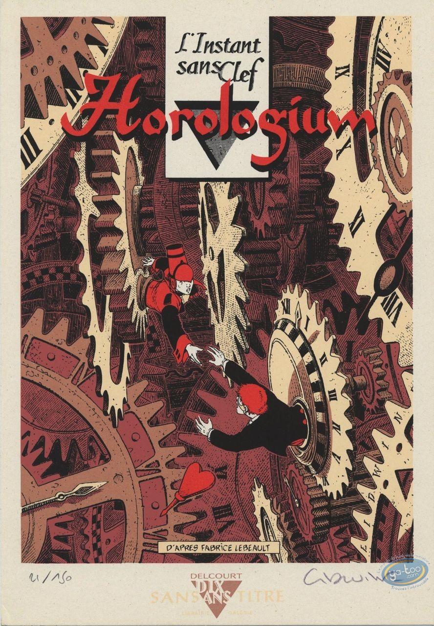 Bookplate Serigraph, Horologiom : Hommage à Horologiom