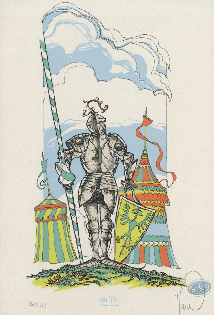Bookplate Serigraph, Garulfo : Knight