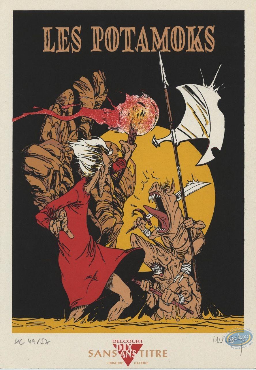 Bookplate Serigraph, Potamoks (Les) : In the cave