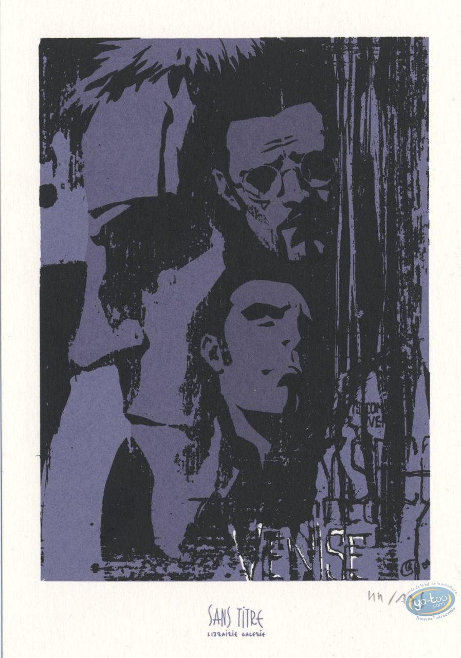 Bookplate Serigraph, 7 Secondes : Faces
