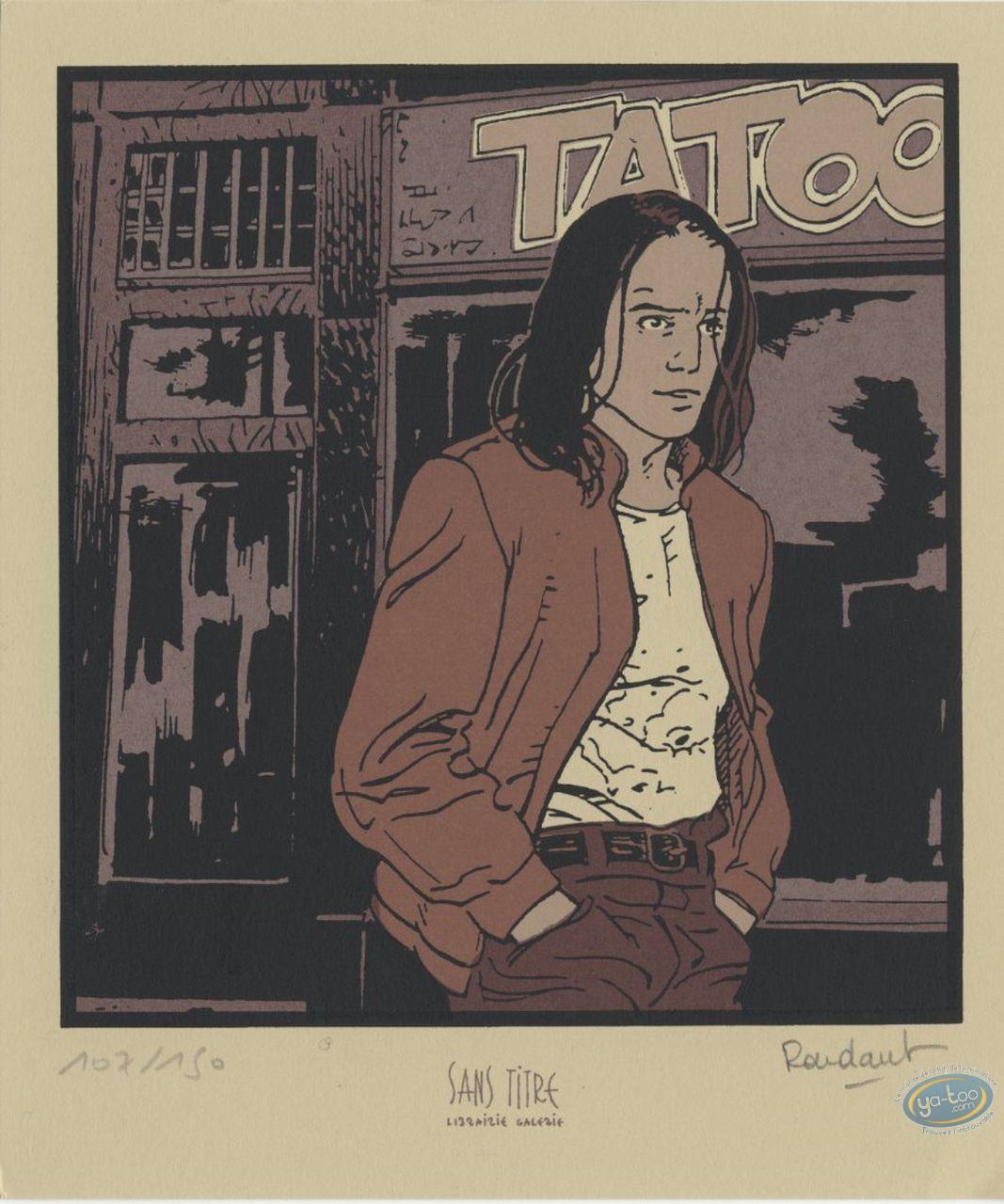 Bookplate Serigraph, Lunatiks : Tatoo