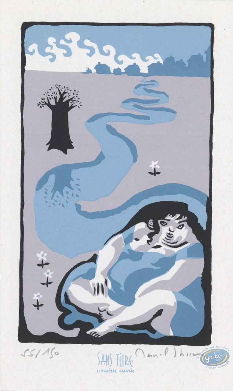 Bookplate Serigraph, Thérèse : River