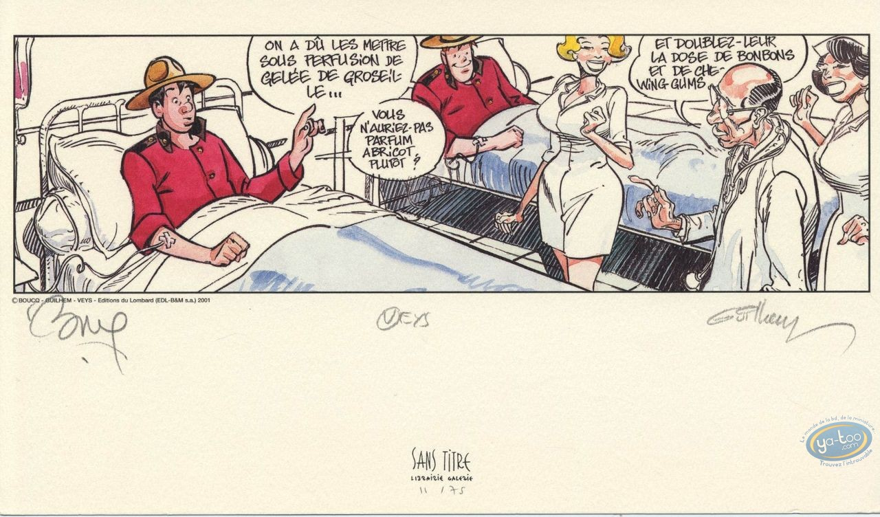 Bookplate Offset, Space Mounties : At the Hospital