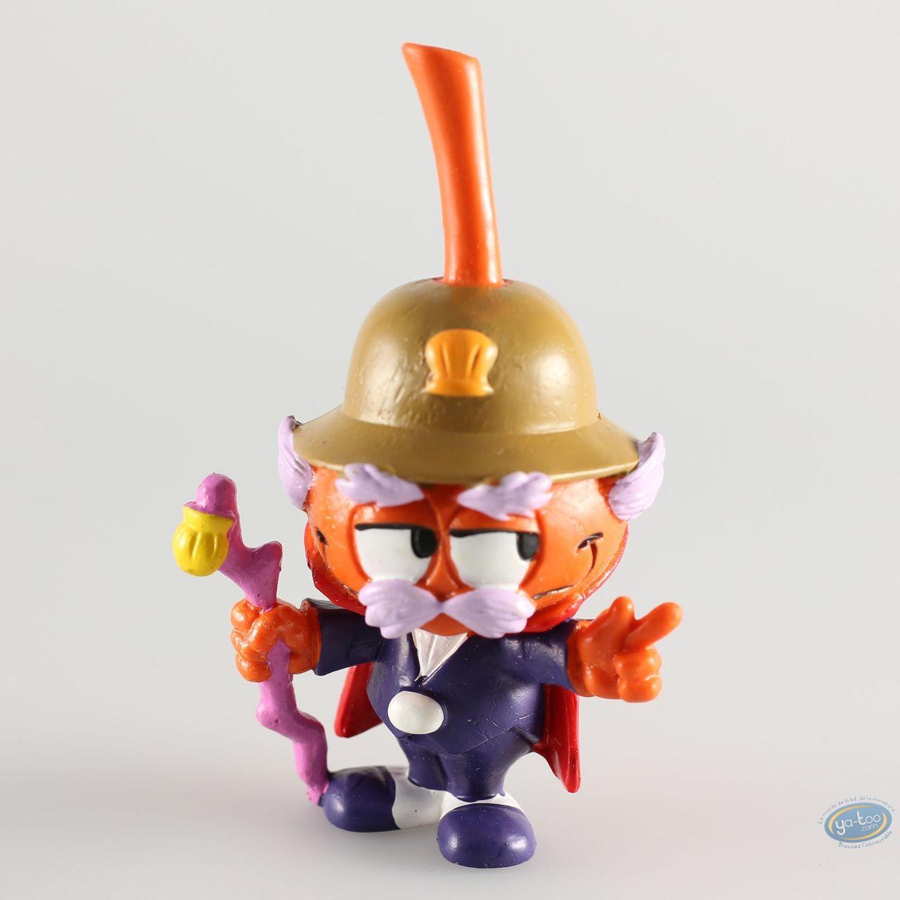 Plastic Figurine, Snorkies (Les) : Gouverneur' orange Snork with a helmet