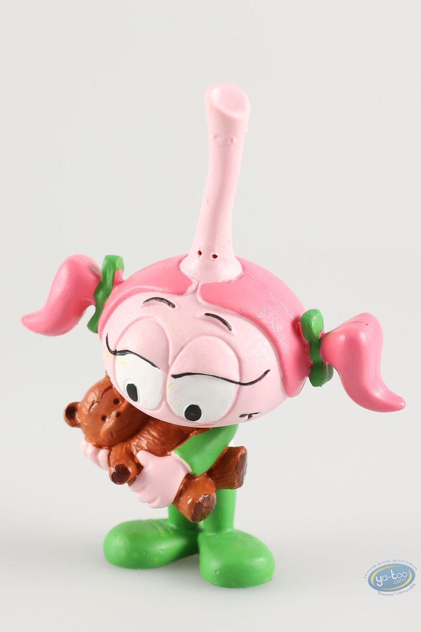 Plastic Figurine, Snorkies (Les) : Cathy' pink Snork girl, teddy bear