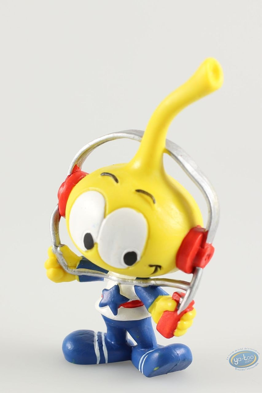 Plastic Figurine, Snorkies (Les) : Astral' yellow Snork with a star, with a walkman