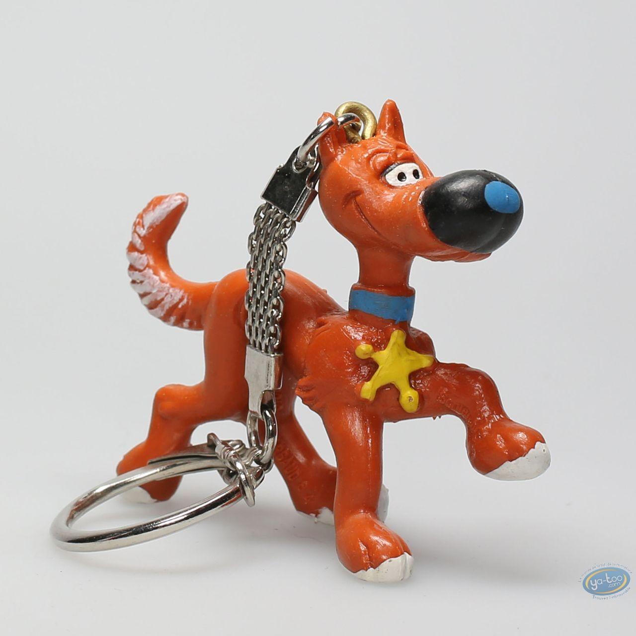 Plastic Figurine, Lucky Luke : Keyring Rantanplan walking