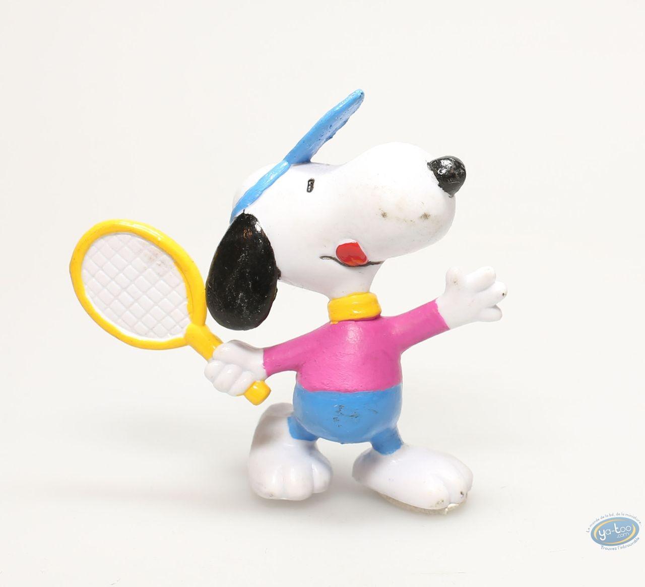 Plastic Figurine, Snoopy : Snoopy tennisman color